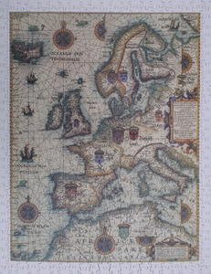 Waghenaer's Great Sea Chart of Europe